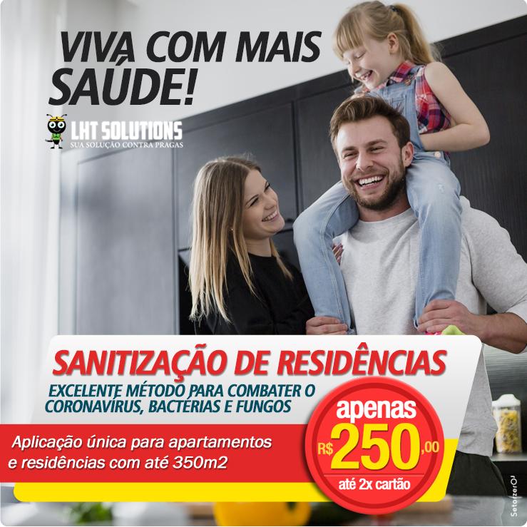 Sanitização de Residencias com até 350m2